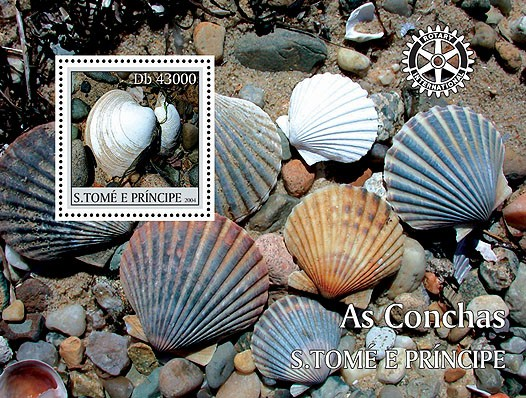 Shells - Les coquillages s/s - Issue of Sao Tome and Principe postage stamps