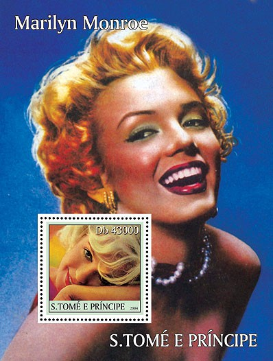 Celebrities: Monroe s/s - Issue of Sao Tome and Principe postage stamps