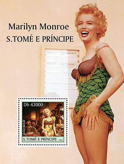 Marilyn Monroe s/s  - Issue of Sao Tome and Principe postage stamps
