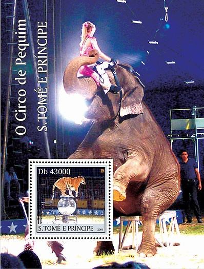 Animals - Animaux (Cirque de Peking) s/s - Issue of Sao Tome and Principe postage stamps