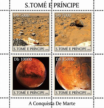 Conquest of Mars - Conquette de Mars 4v - Issue of Sao Tome and Principe postage stamps