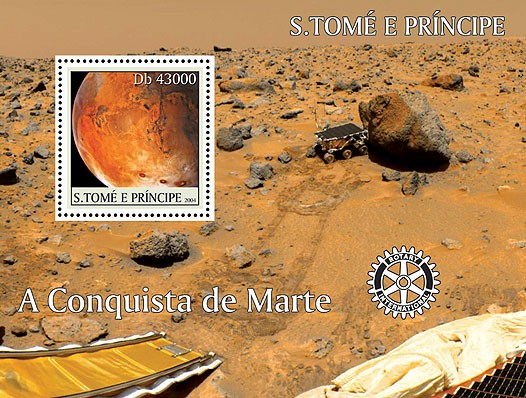 Conquest of Mars - Conquette de Mars 4v (+Rotary) - Issue of Sao Tome and Principe postage stamps