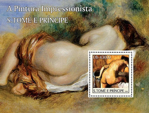 Paintings - Tableux impressionnistes s/s - Issue of Sao Tome and Principe postage stamps