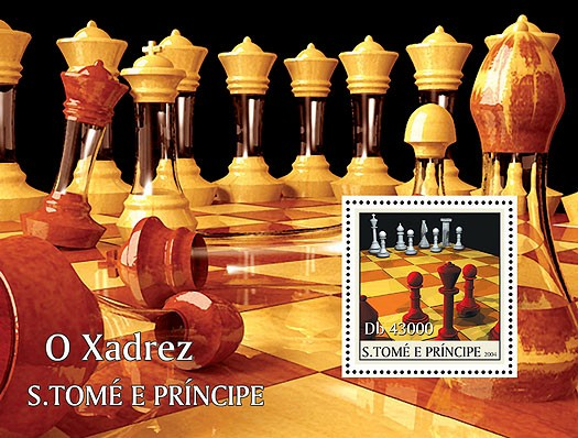 Chess - Les echescs s/s - Issue of Sao Tome and Principe postage stamps