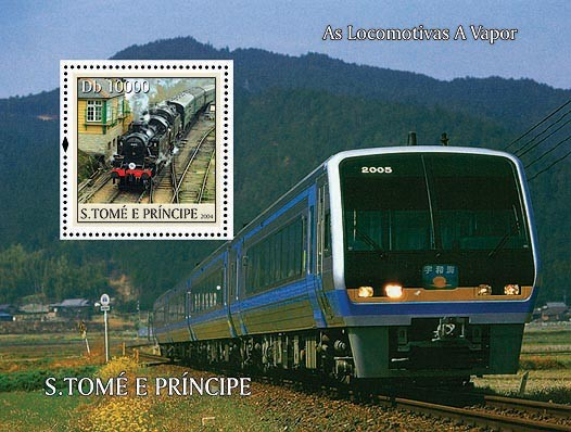 Trains Db 10000 - Issue of Sao Tome and Principe postage stamps