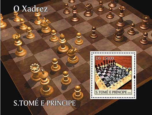 Chess / Les Echecs Db 15000 - Issue of Sao Tome and Principe postage stamps