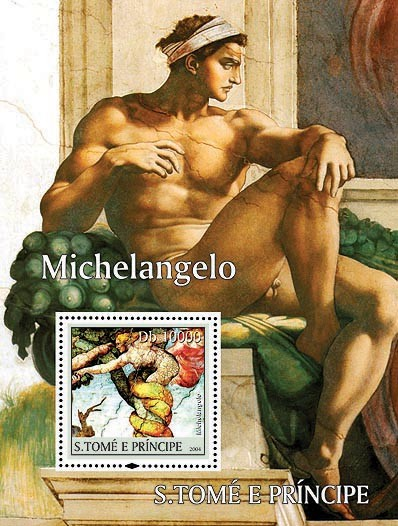Michelangelo Db 10000 - Issue of Sao Tome and Principe postage stamps