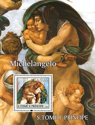 Michelangelo Db 5000 - Issue of Sao Tome and Principe postage stamps