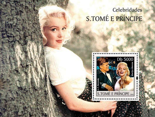 Marilyn Monroe & J.F.Kennedy Db 5000 - Issue of Sao Tome and Principe postage stamps
