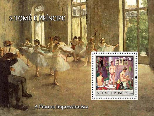 Impressionists - Seurat Db 5000 - Issue of Sao Tome and Principe postage stamps