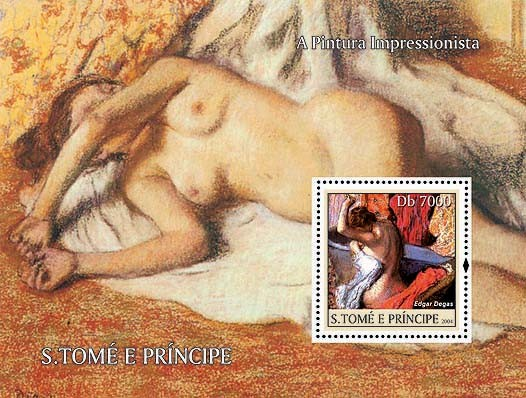Impressionists - Degas Db 7000 - Issue of Sao Tome and Principe postage stamps