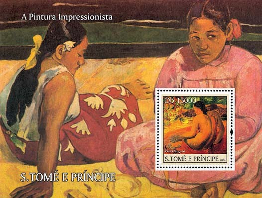 Impressionists - Gauguin Db 15000 - Issue of Sao Tome and Principe postage stamps