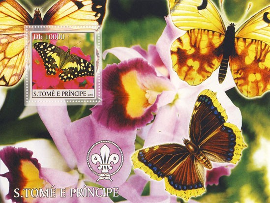 Butterflies & Orchids Db 7000 - Issue of Sao Tome and Principe postage stamps