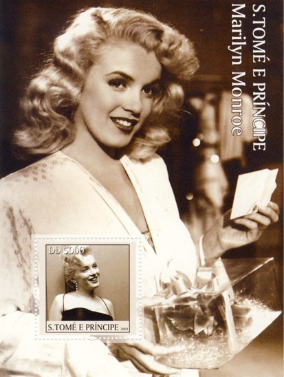 Marilyn Monroe Db 5000 - Issue of Sao Tome and Principe postage stamps