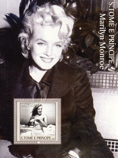 Marilyn Monroe Db 7000 - Issue of Sao Tome and Principe postage stamps
