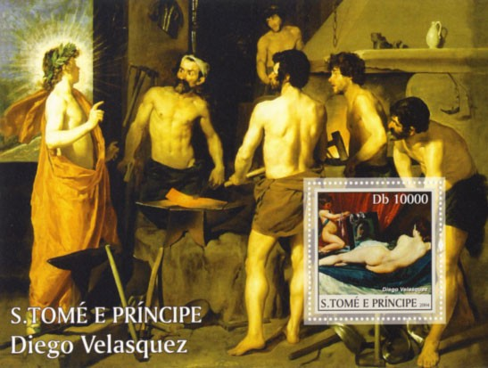 Spanish Art Db 10000 (D. Velasquez) - Issue of Sao Tome and Principe postage stamps