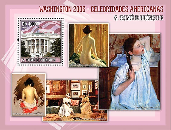 American Celebrities - Issue of Sao Tome and Principe postage stamps