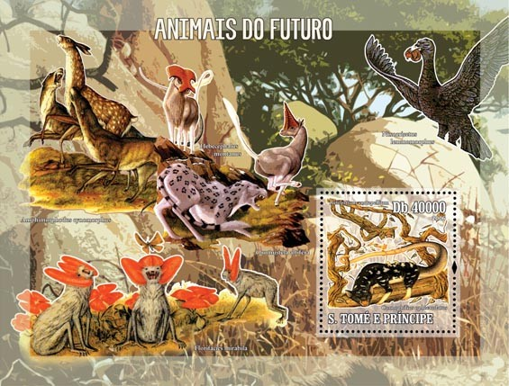 Animals of the future S/s = 40 000 Db - Issue of Sao Tome and Principe postage stamps
