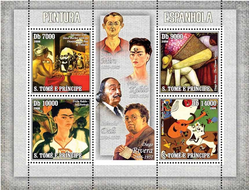 Spanish paintings - Issue of Sao Tome and Principe postage stamps