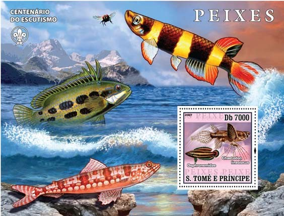 Fish - Issue of Sao Tome and Principe postage stamps
