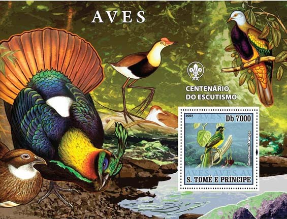 Birds I - Issue of Sao Tome and Principe postage stamps