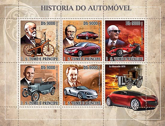 History of Auto - Issue of Sao Tome and Principe postage stamps