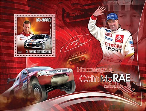 Collin McRae - Cars race - Issue of Sao Tome and Principe postage stamps
