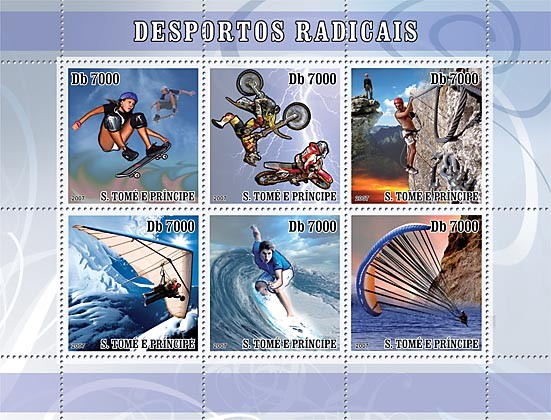 Extreme Sports - Issue of Sao Tome and Principe postage stamps