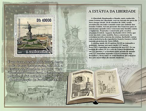 Lighthouses - Statue of Liberty - Issue of Sao Tome and Principe postage stamps