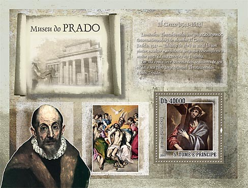 Museum Prado - El Greco - Issue of Sao Tome and Principe postage stamps