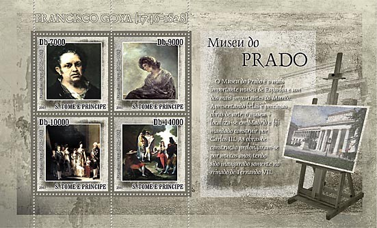 Museum Prado - F.Goya - Issue of Sao Tome and Principe postage stamps