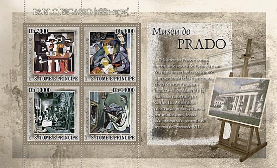 Museum Prado - Issue of Sao Tome and Principe postage stamps