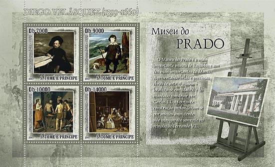 Museum Prado - D.Velasquez - Issue of Sao Tome and Principe postage stamps