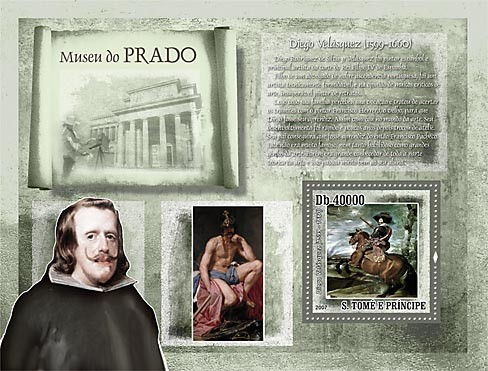 Museum Prado - D.Velasquez - Issue of Sao Tome and Principe postage stamps