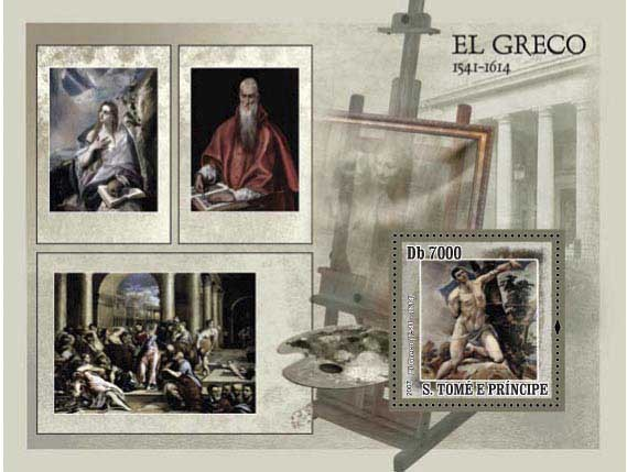 Paintings El Greco - Issue of Sao Tome and Principe postage stamps