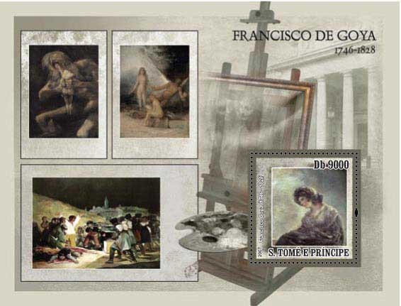 Paintings De Goya - Issue of Sao Tome and Principe postage stamps