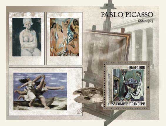 Paintings Picasso - Issue of Sao Tome and Principe postage stamps