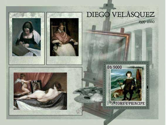 Paintings Velasquez - Issue of Sao Tome and Principe postage stamps