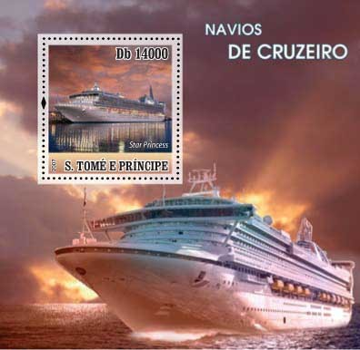Ship / Navios de Cruzeiro - Issue of Sao Tome and Principe postage stamps