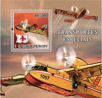 Sp.Transport / Red Cross / Aircraft - Issue of Sao Tome and Principe postage stamps