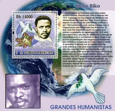 Steve Biko - Issue of Sao Tome and Principe postage stamps
