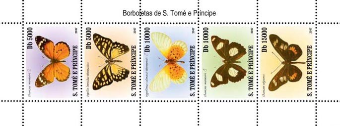 Butterflies of Sao Tome - Issue of Sao Tome and Principe postage stamps