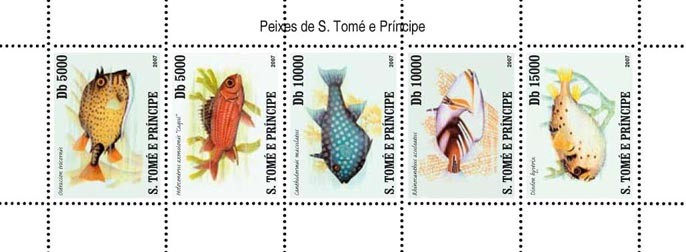 Fish of Sao Tome - Issue of Sao Tome and Principe postage stamps