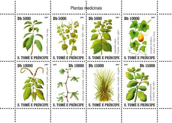 Medic plants of Sao Tome - Issue of Sao Tome and Principe postage stamps