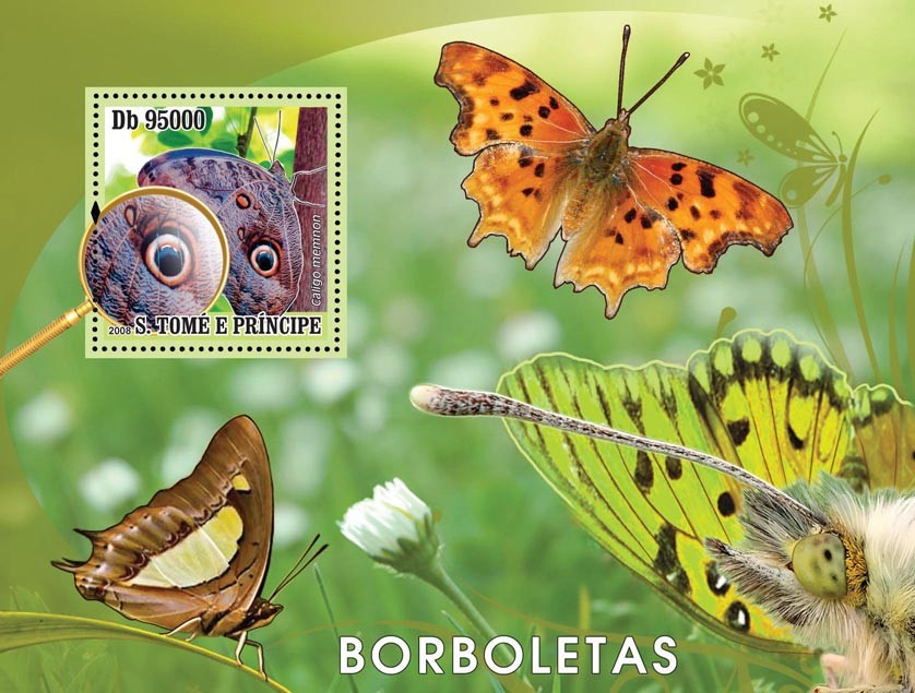 Butterflies s/s - Issue of Sao Tome and Principe postage stamps