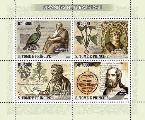 Naturalists I 4v - Issue of Sao Tome and Principe postage stamps