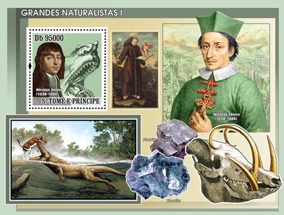 Naturalists I s/s - Issue of Sao Tome and Principe postage stamps