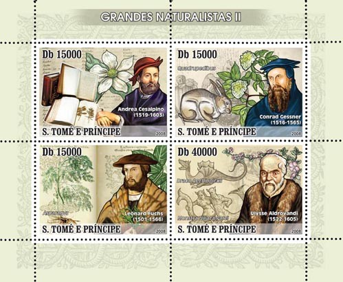 Naturalists II 4v - Issue of Sao Tome and Principe postage stamps