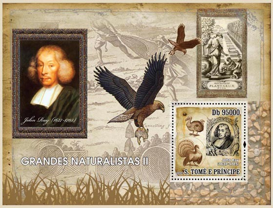 Naturalists II s/s - Issue of Sao Tome and Principe postage stamps