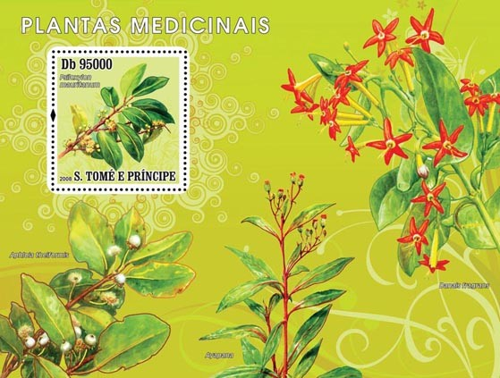 Medical plants s/s - Issue of Sao Tome and Principe postage stamps